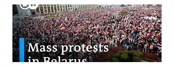 Mass protest in Belarus